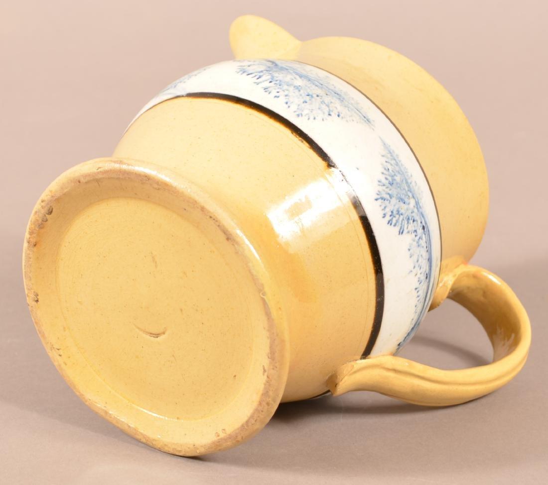 Yellowware Milk Pitcher w/ Mocha Seaweed Dec. - 4