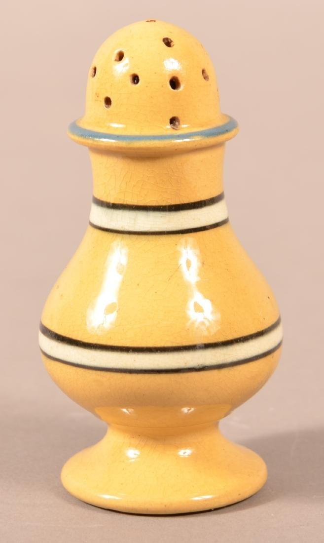 19th Century Yellowware Dome Top Pepper Pot.