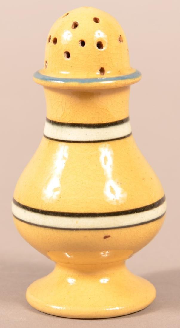 19th Century Yellowware Dome Top Pepper Pot. - 2