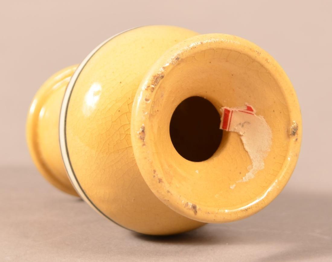 19th Century Yellowware Dome Top Pepper Pot. - 4
