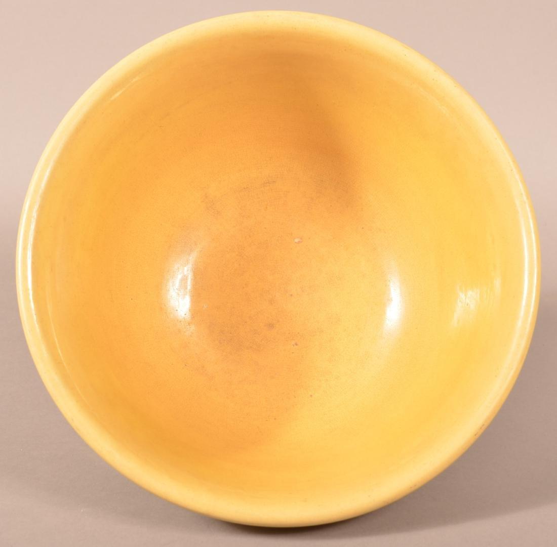 Yellowware Mixing Bowl w/ Seaweed Decoration. - 2