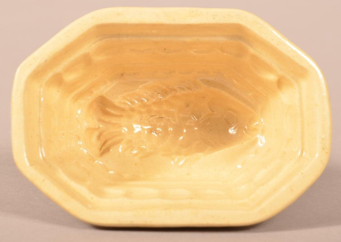 Yellowware Fish Form Mold.