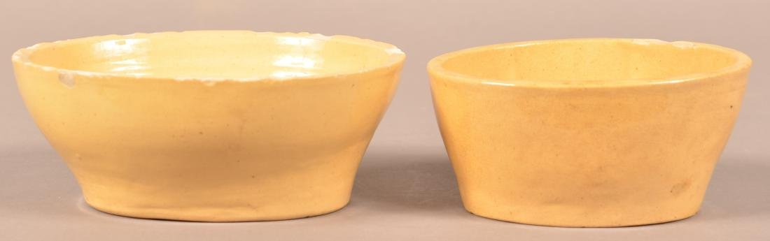 2 Antique Yellowware Oval Molds. - 2