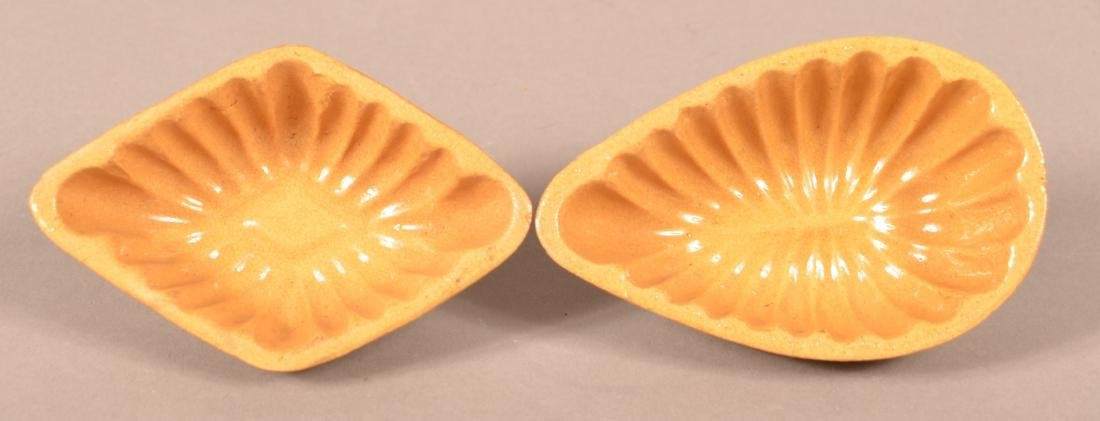 Two Antique Signed Yellowware Mini-Molds.