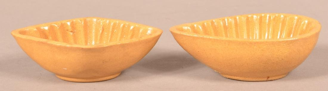 Two Antique Signed Yellowware Mini-Molds. - 2