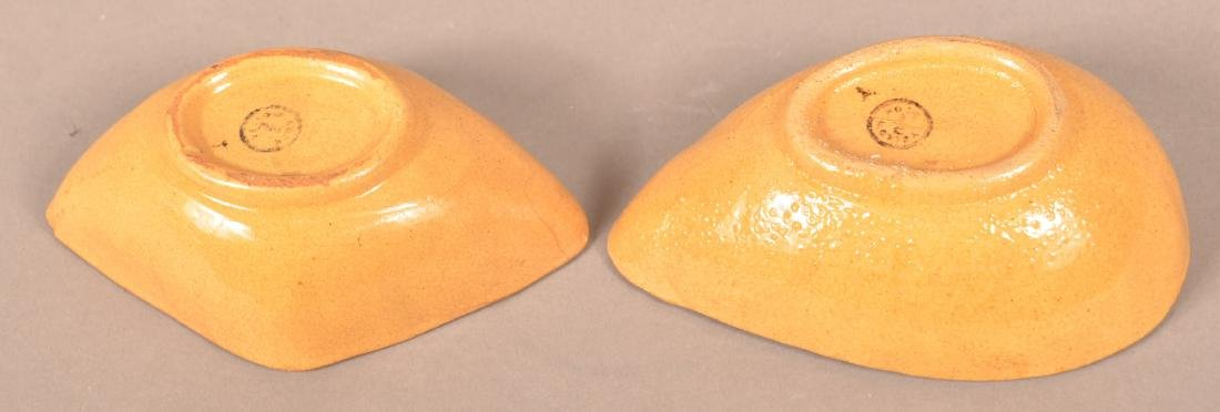 Two Antique Signed Yellowware Mini-Molds. - 3