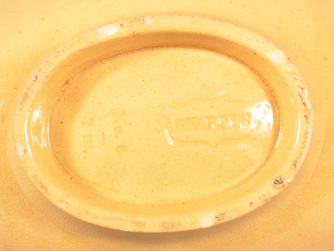 2 Antique Yellowware Oval Molds. - 4