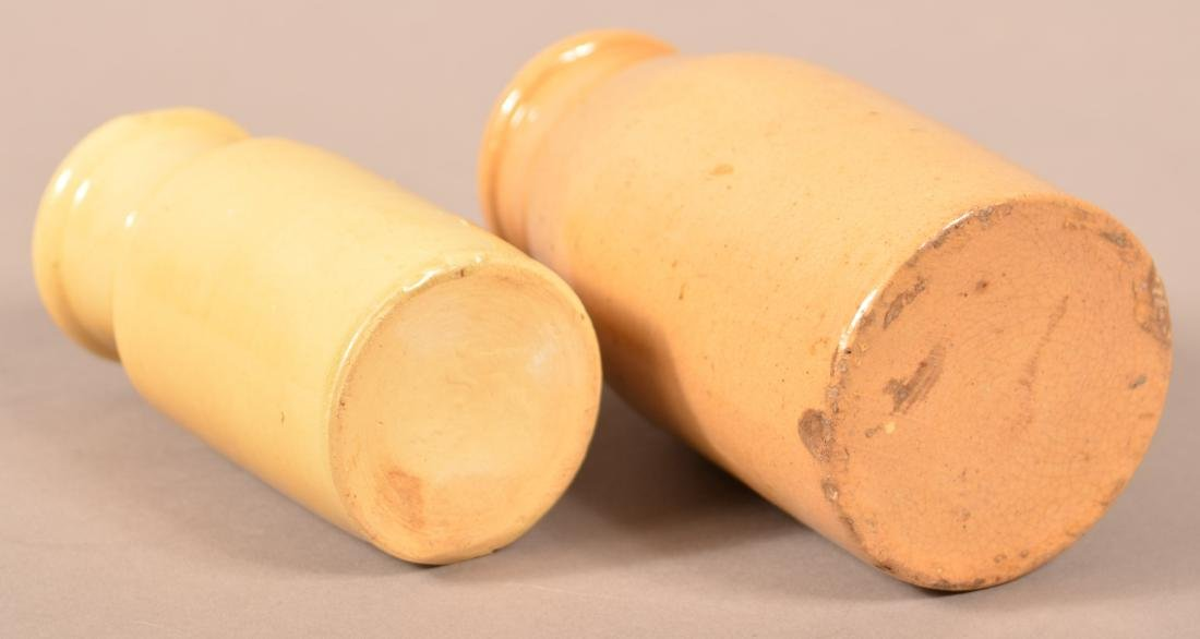 Two Various Antique Yellowware Cream Bottles. - 3