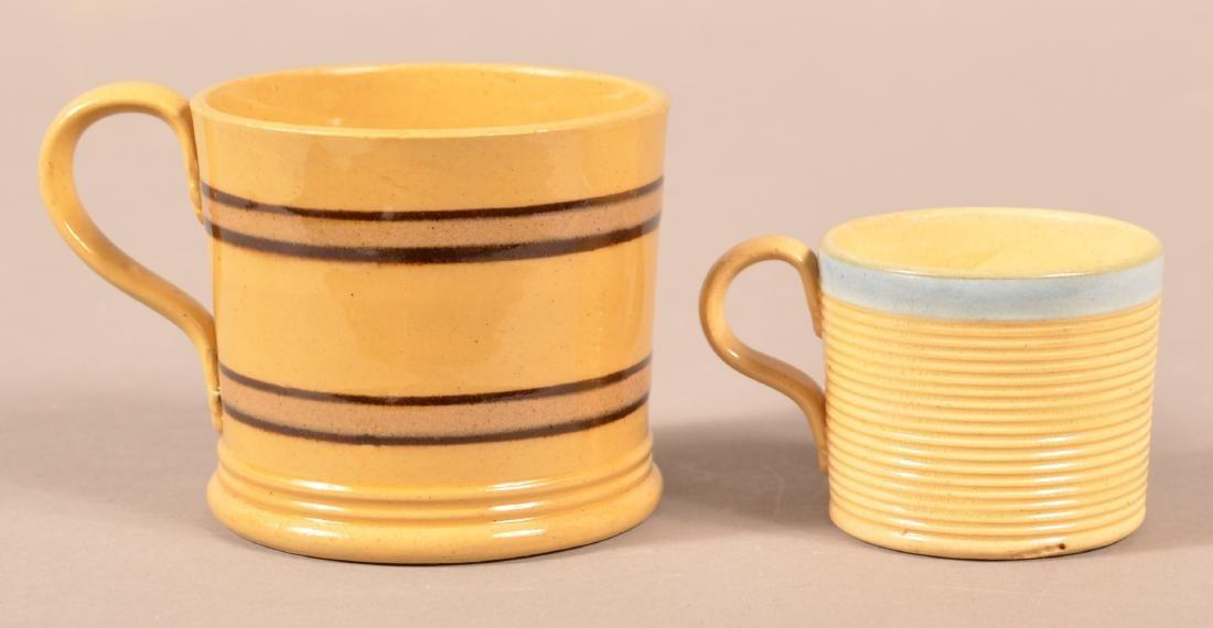 Two 19th Century Yellowware Child's Mugs.