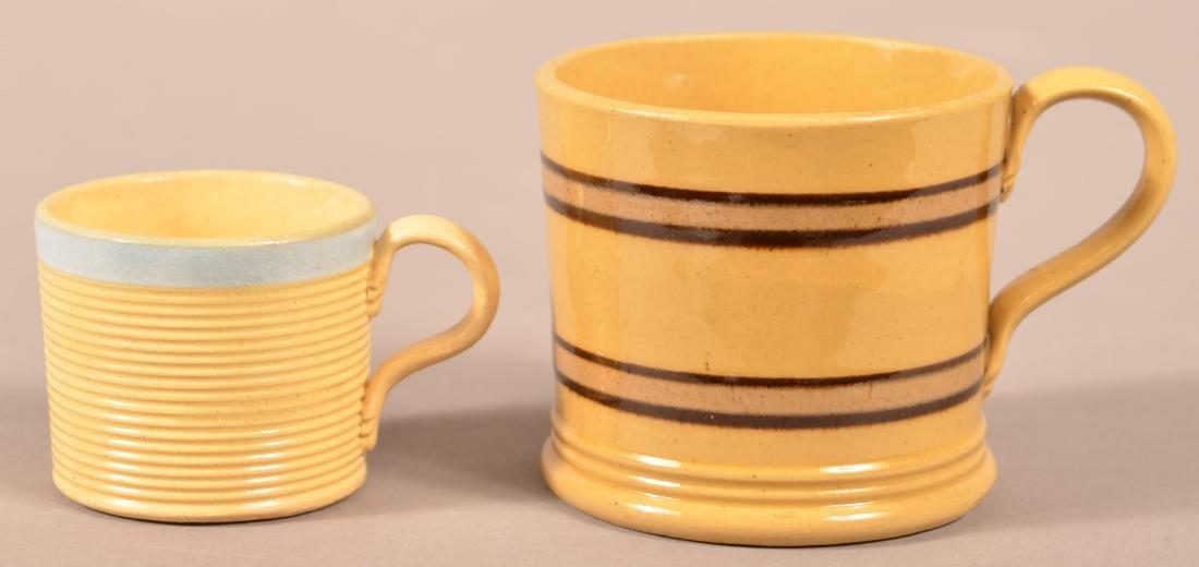 Two 19th Century Yellowware Child's Mugs. - 2