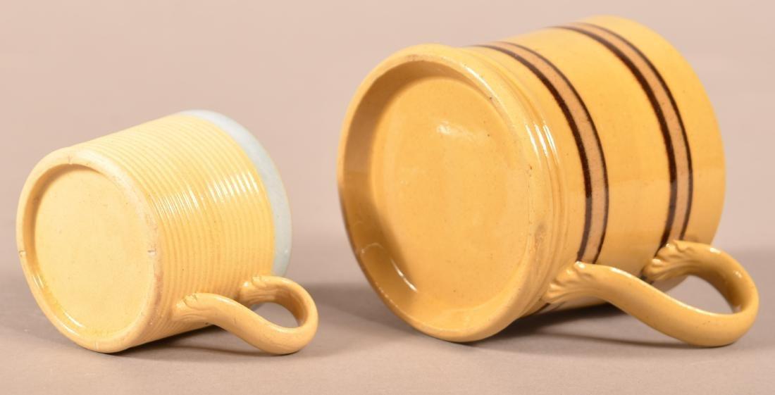 Two 19th Century Yellowware Child's Mugs. - 3
