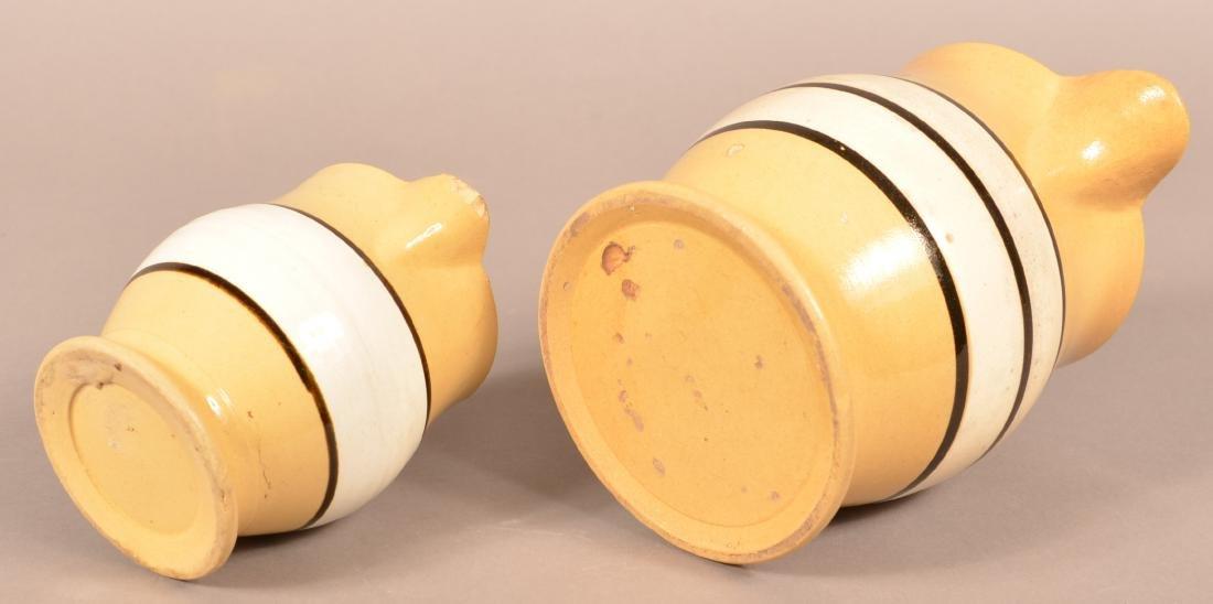 Two 19th Century Yellowware Pitchers. - 3