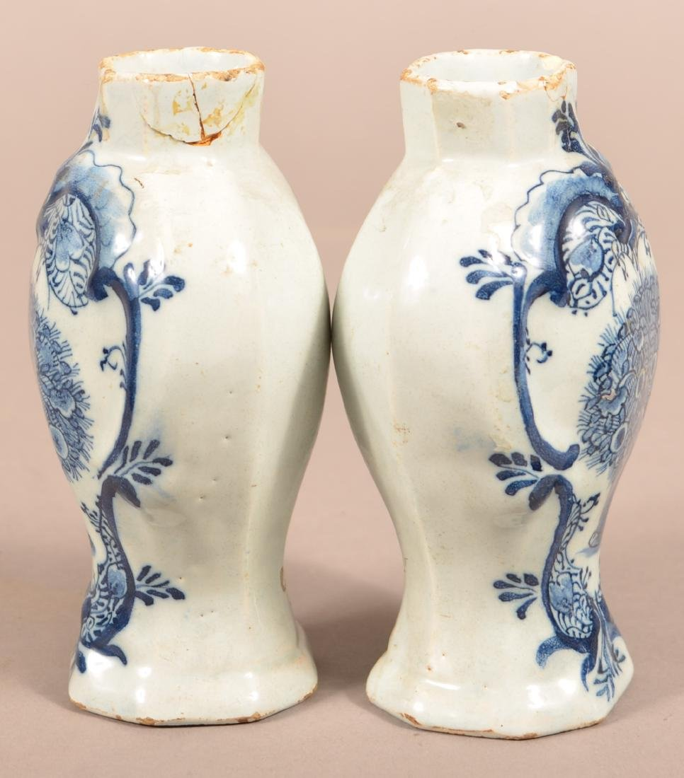 Pair of Antique Delft Vases and Covers. - 3