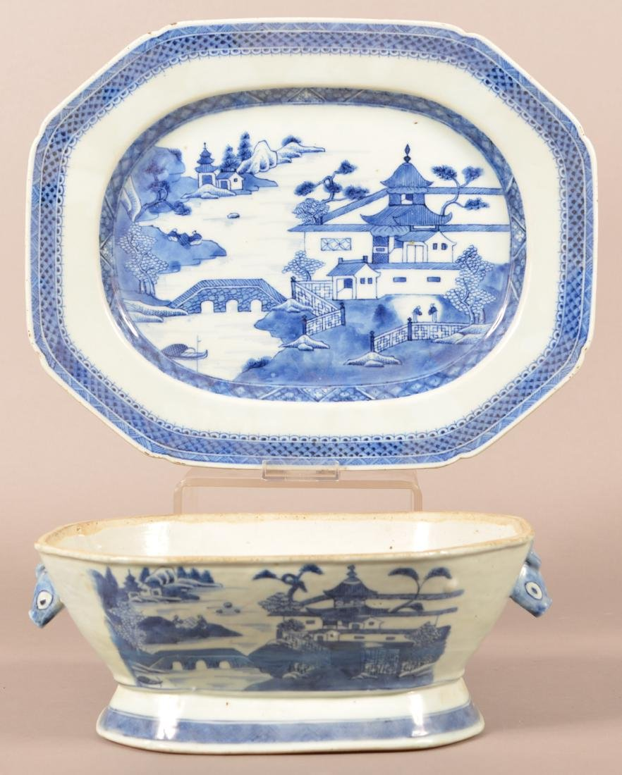 Two Pieces of Canton Oriental Porcelain.