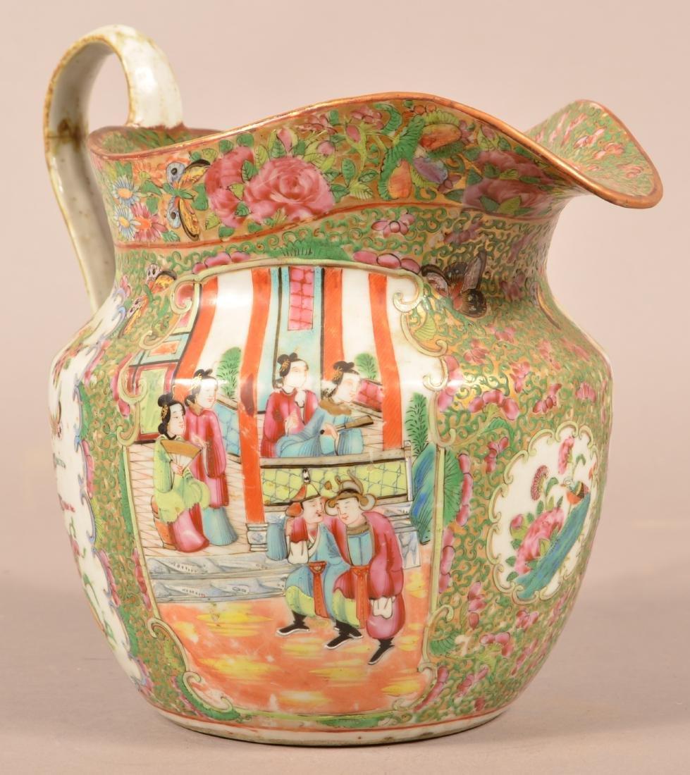 Rose Medallion Oriental Porcelain Large Pitcher.
