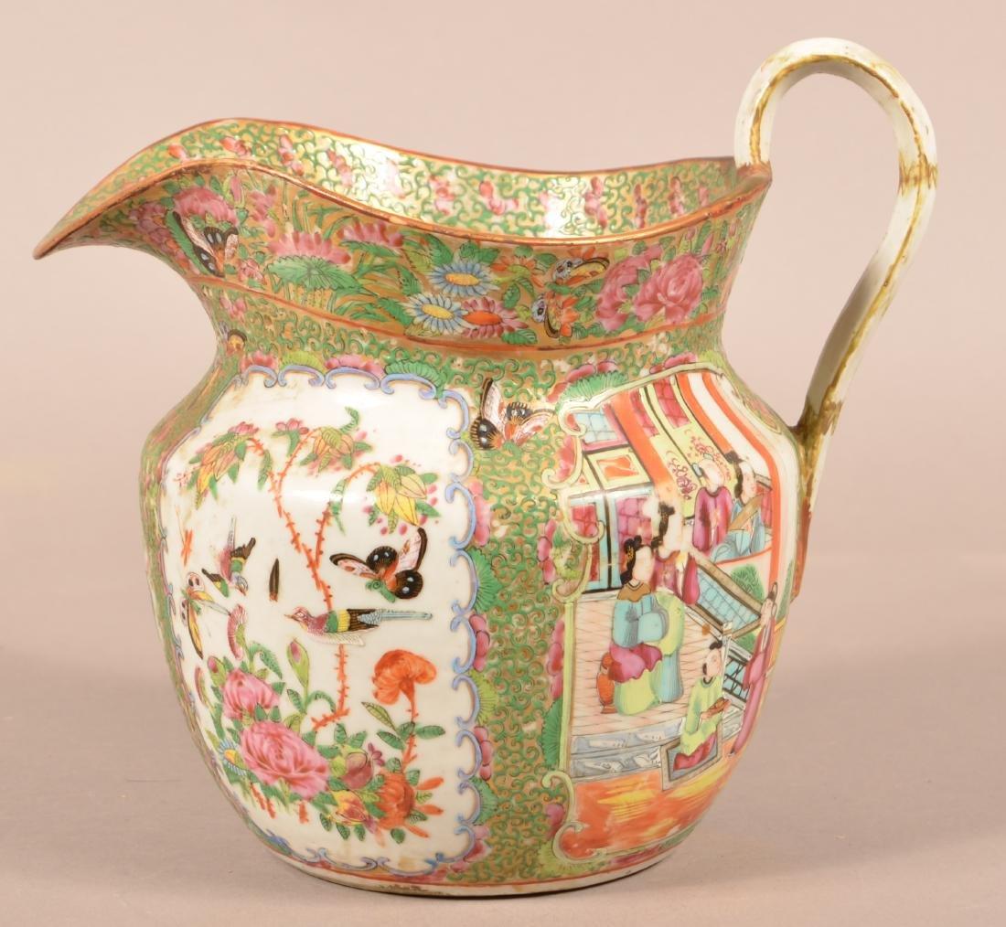 Rose Medallion Oriental Porcelain Large Pitcher. - 2
