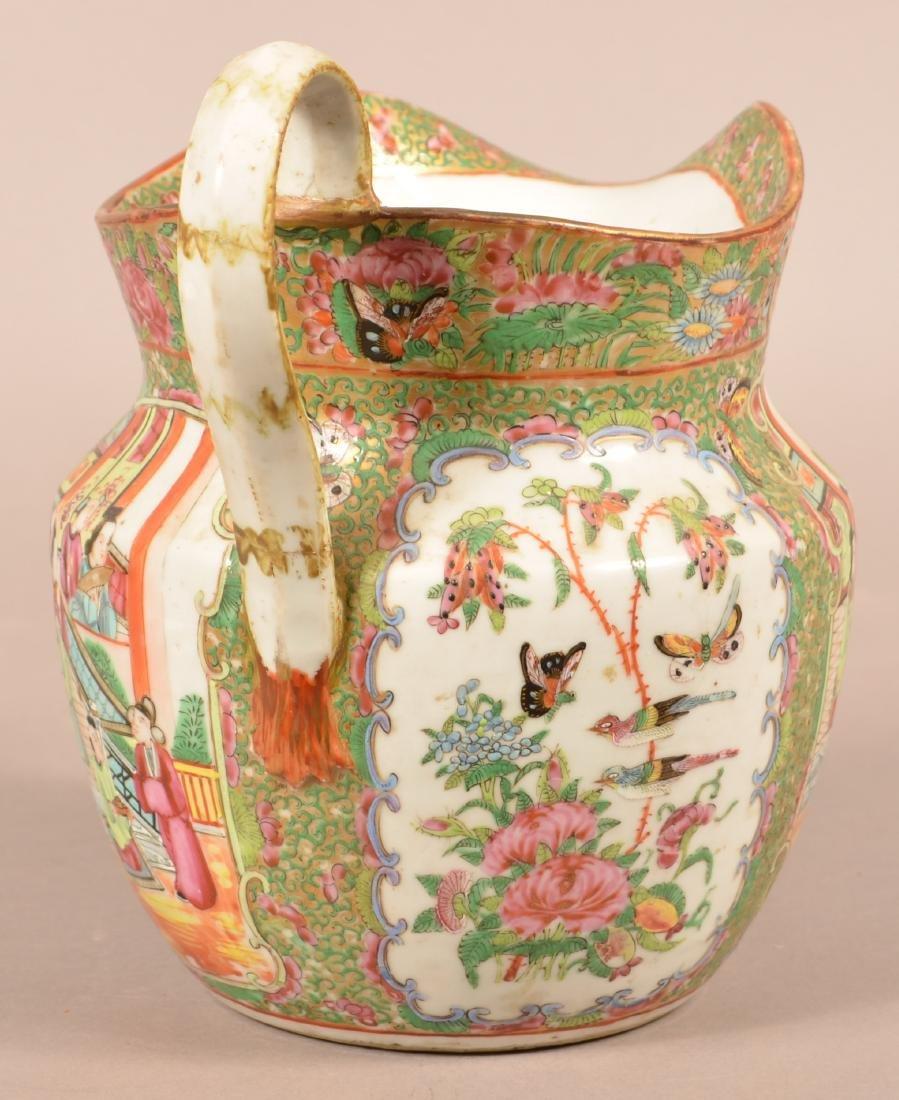 Rose Medallion Oriental Porcelain Large Pitcher. - 4