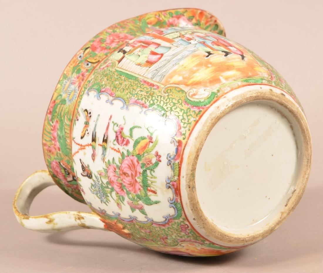 Rose Medallion Oriental Porcelain Large Pitcher. - 5