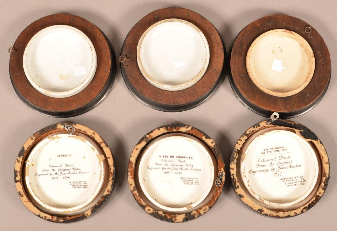 Six Antique/Vintage English Pot Lids. - 2