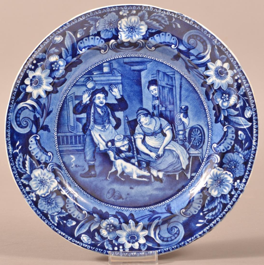 Staffordshire Blue Transfer China Plate.