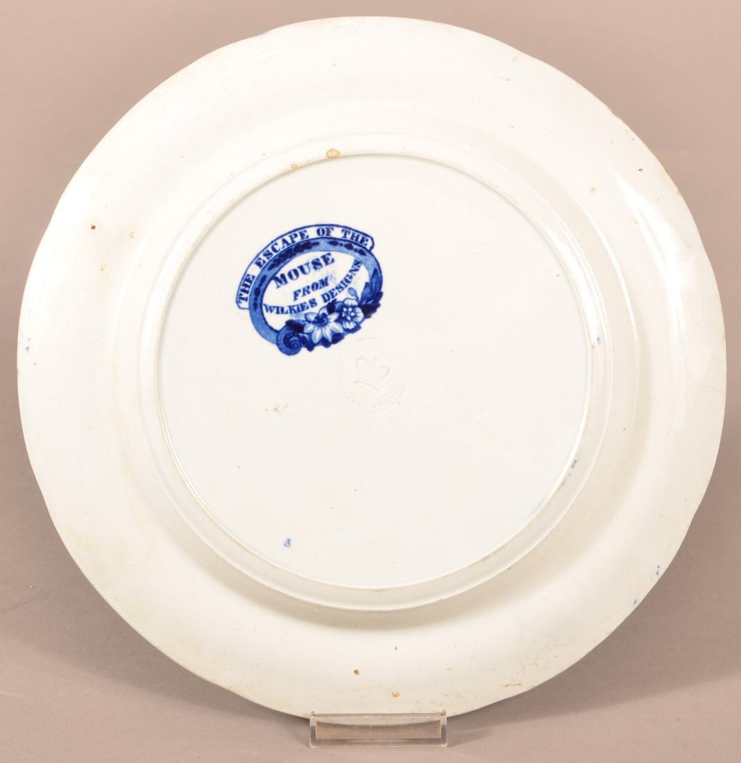 Staffordshire Blue Transfer China Plate. - 2