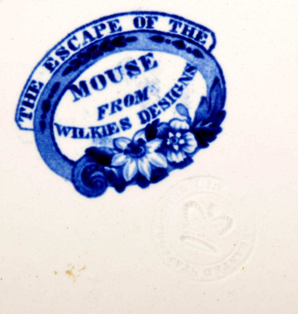 Staffordshire Blue Transfer China Plate. - 3