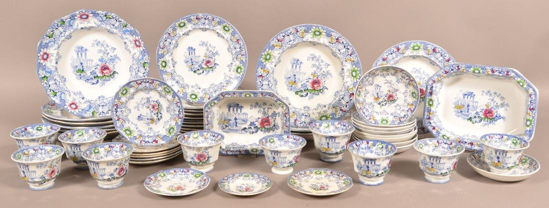 54 Pieces of Cleopatra Pattern Ironstone China.