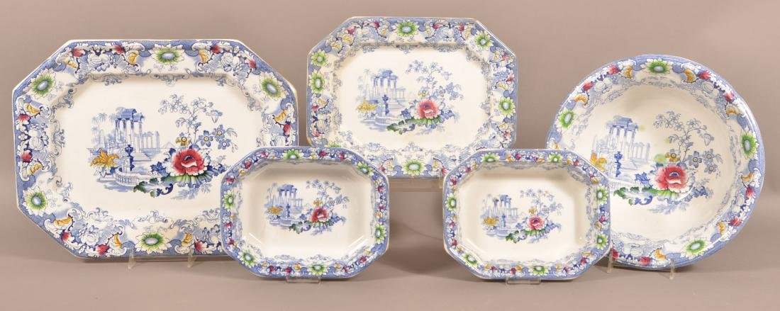 5 Pieces of Cleopatra Pattern Ironstone China.