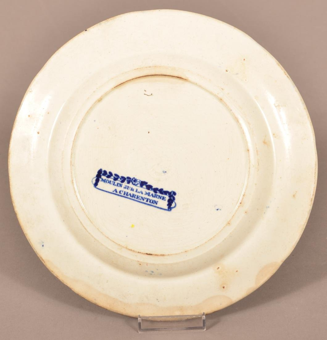 Blue Transfer Staffordshire China Plate. - 2