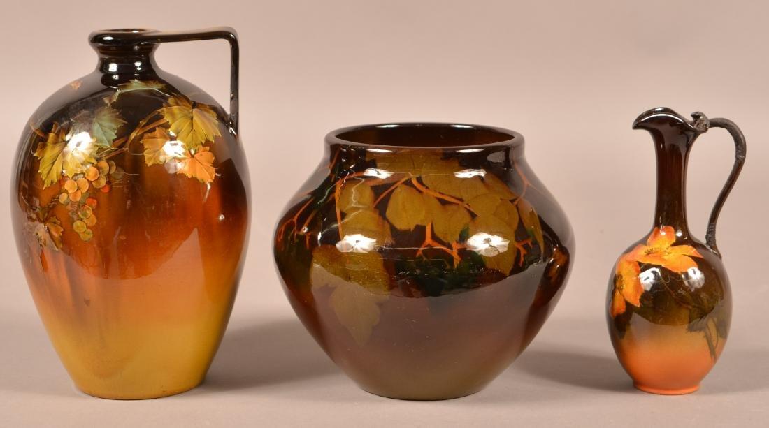 3 Pieces of Rookwood Standard Glaze Pottery.