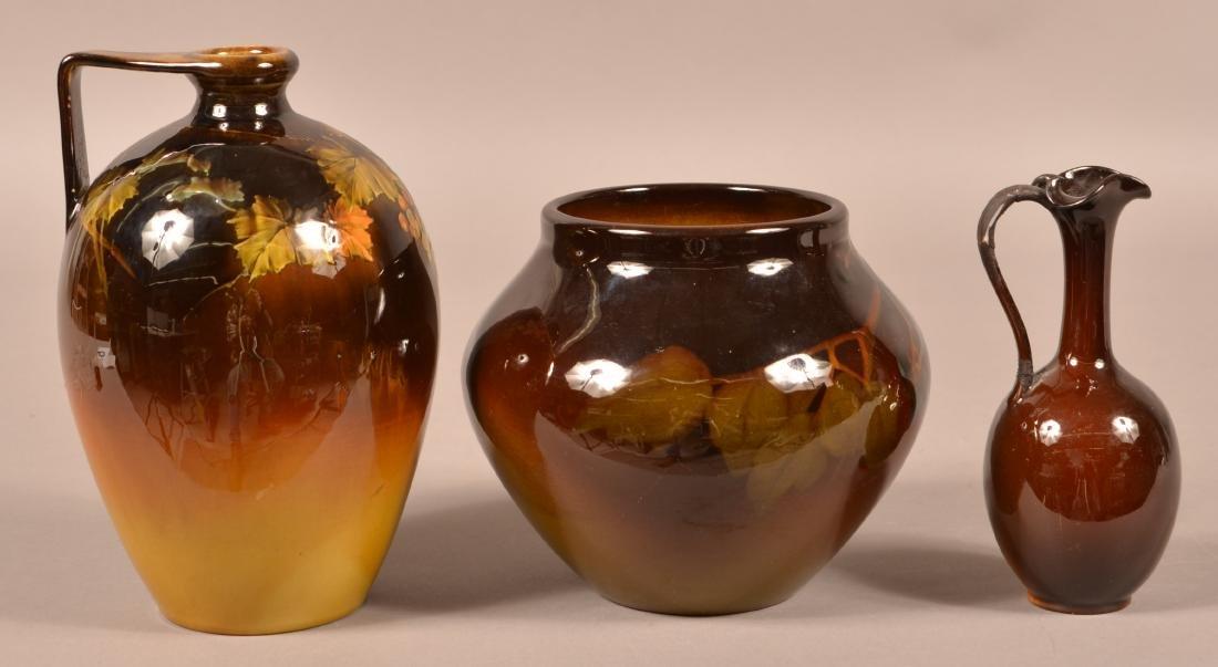 3 Pieces of Rookwood Standard Glaze Pottery. - 2