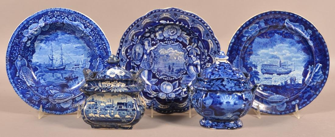 Five Pieces of Historical Staffordshire China.