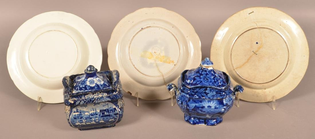 Five Pieces of Historical Staffordshire China. - 2