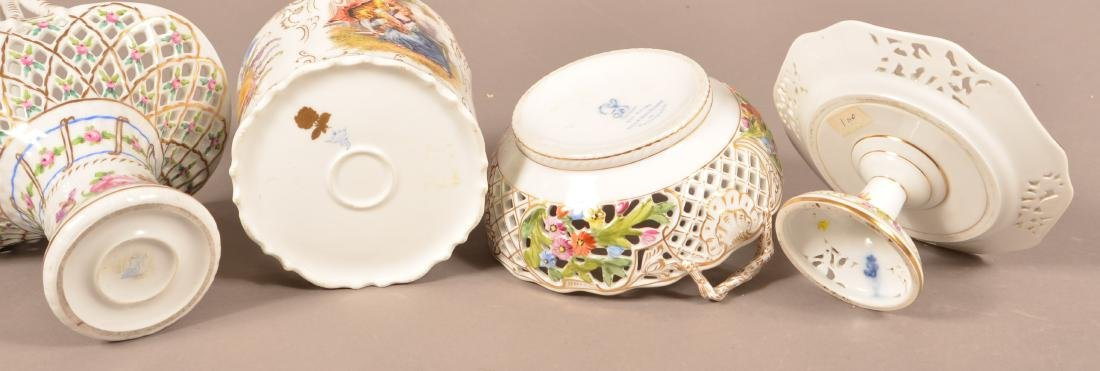 Four Pieces of Dresden Hand Painted Porcelain. - 2