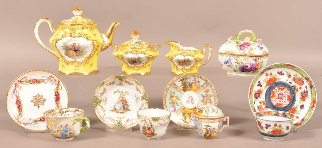 Lot of Dresden & Misc. Hand Painted Porcelain.