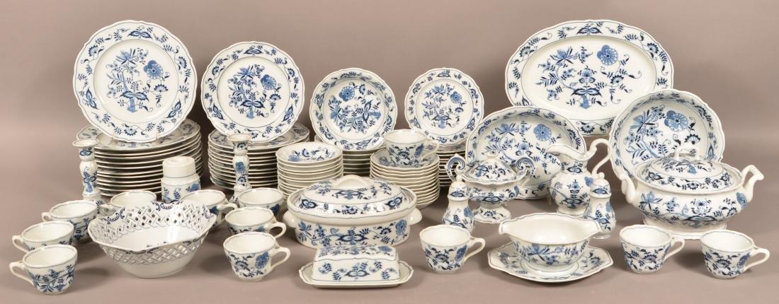 93 Pc. Blue Danube Porcelain Dinner Service.