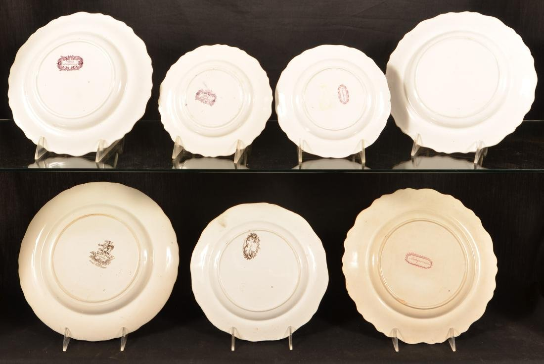 7 Various Staffordshire Romantic View Plates. - 2