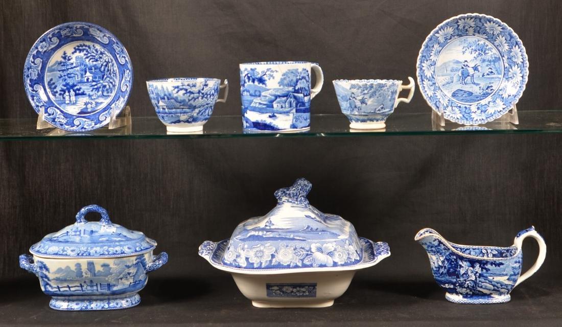 Blue Staffordshire China Romantic Views China.