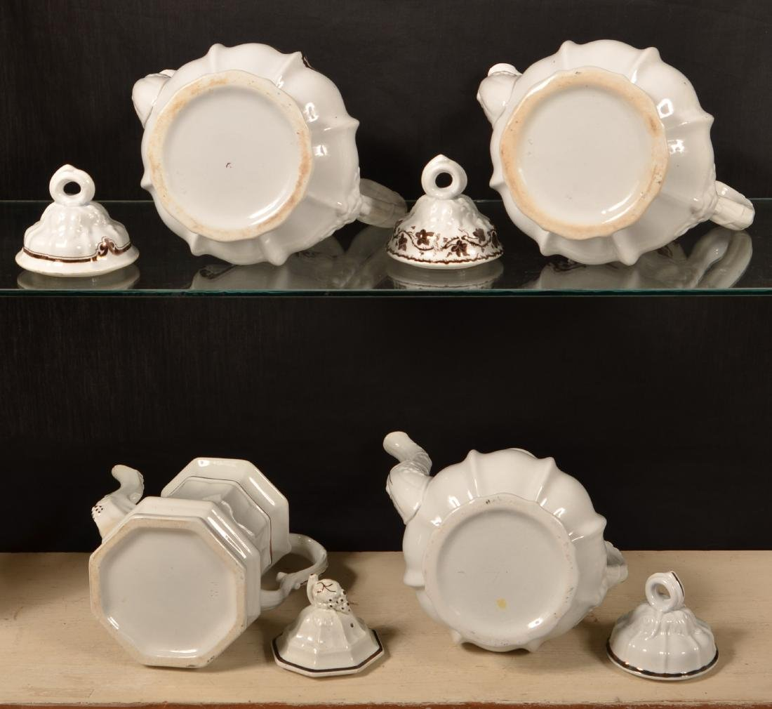 6 Pieces of Copper Lustre Ironstone China. - 2
