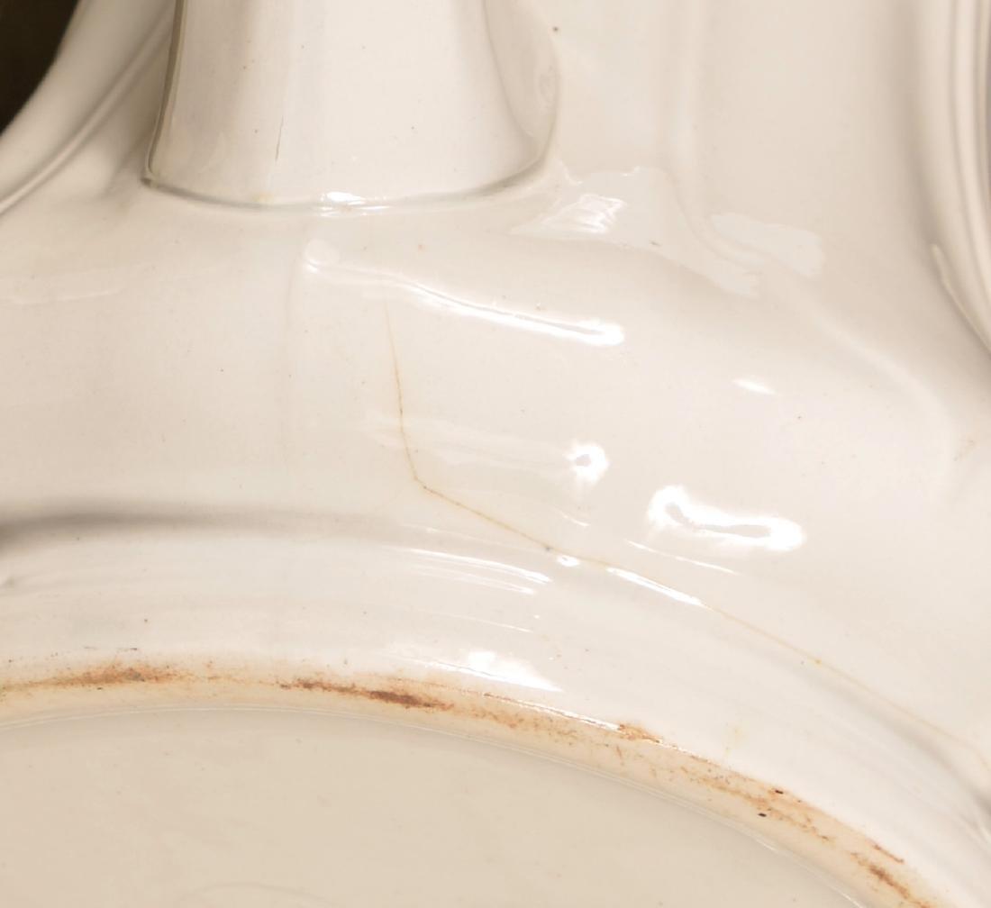Six Various White Ironstone Coffee Pots. - 4
