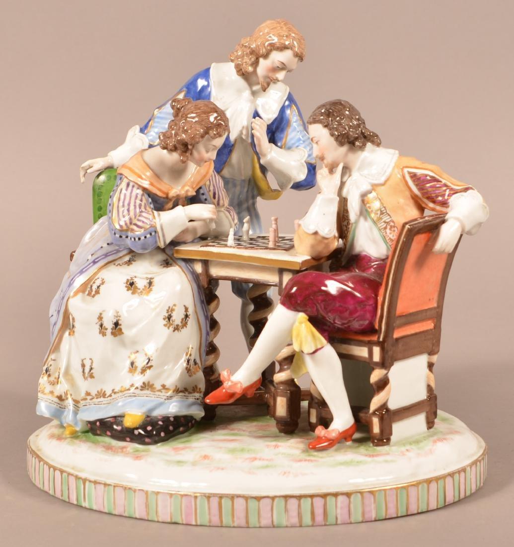 Capodimonte Porcelain Figural Group.