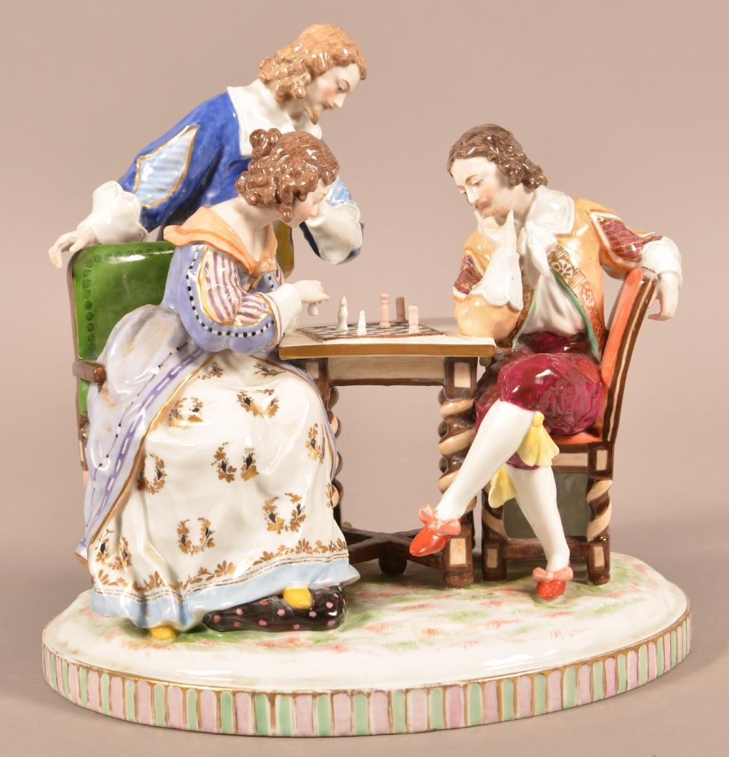 Capodimonte Porcelain Figural Group. - 2