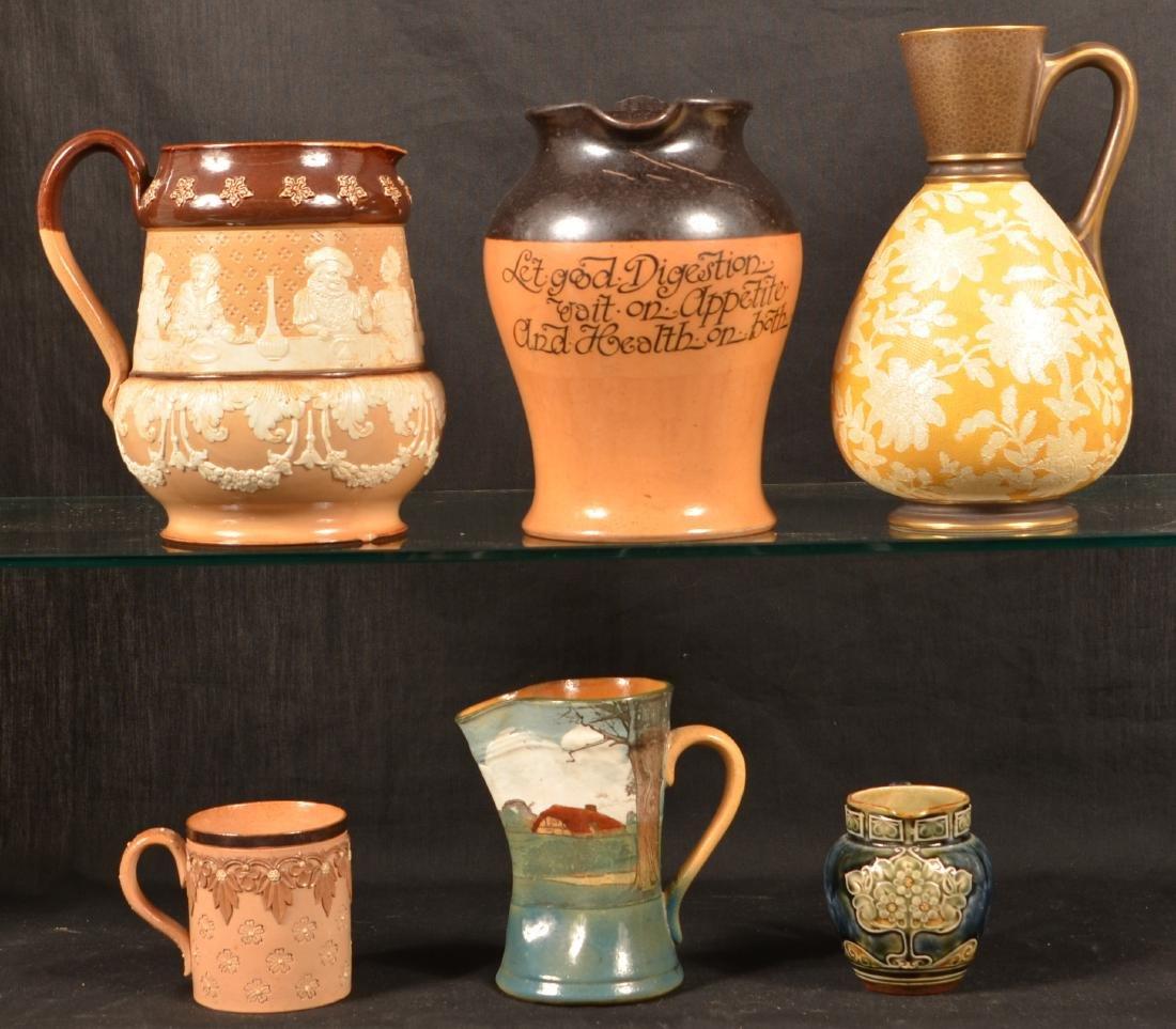6 Pcs. of Royal Doulton/Doulton Lambeth Pottery.