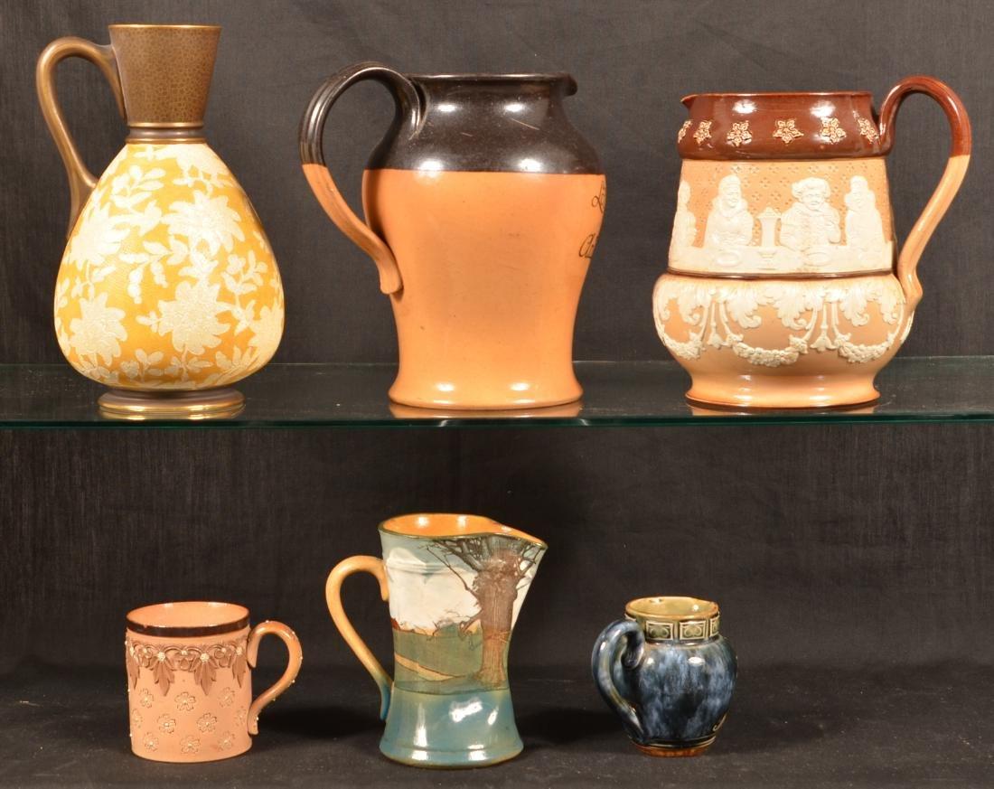 6 Pcs. of Royal Doulton/Doulton Lambeth Pottery. - 2
