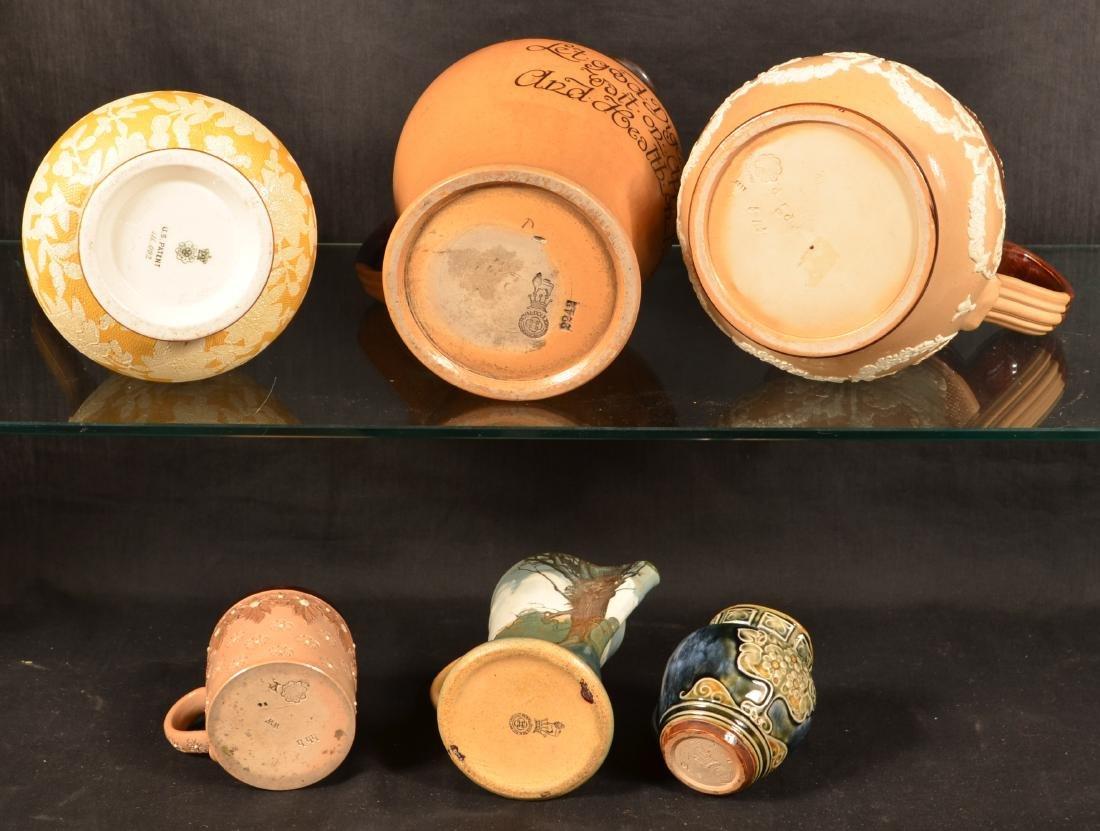 6 Pcs. of Royal Doulton/Doulton Lambeth Pottery. - 3