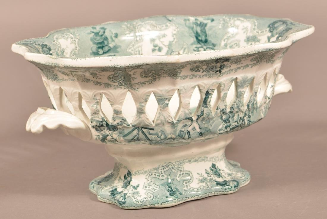 Staffordshire China Reticulated Compote.