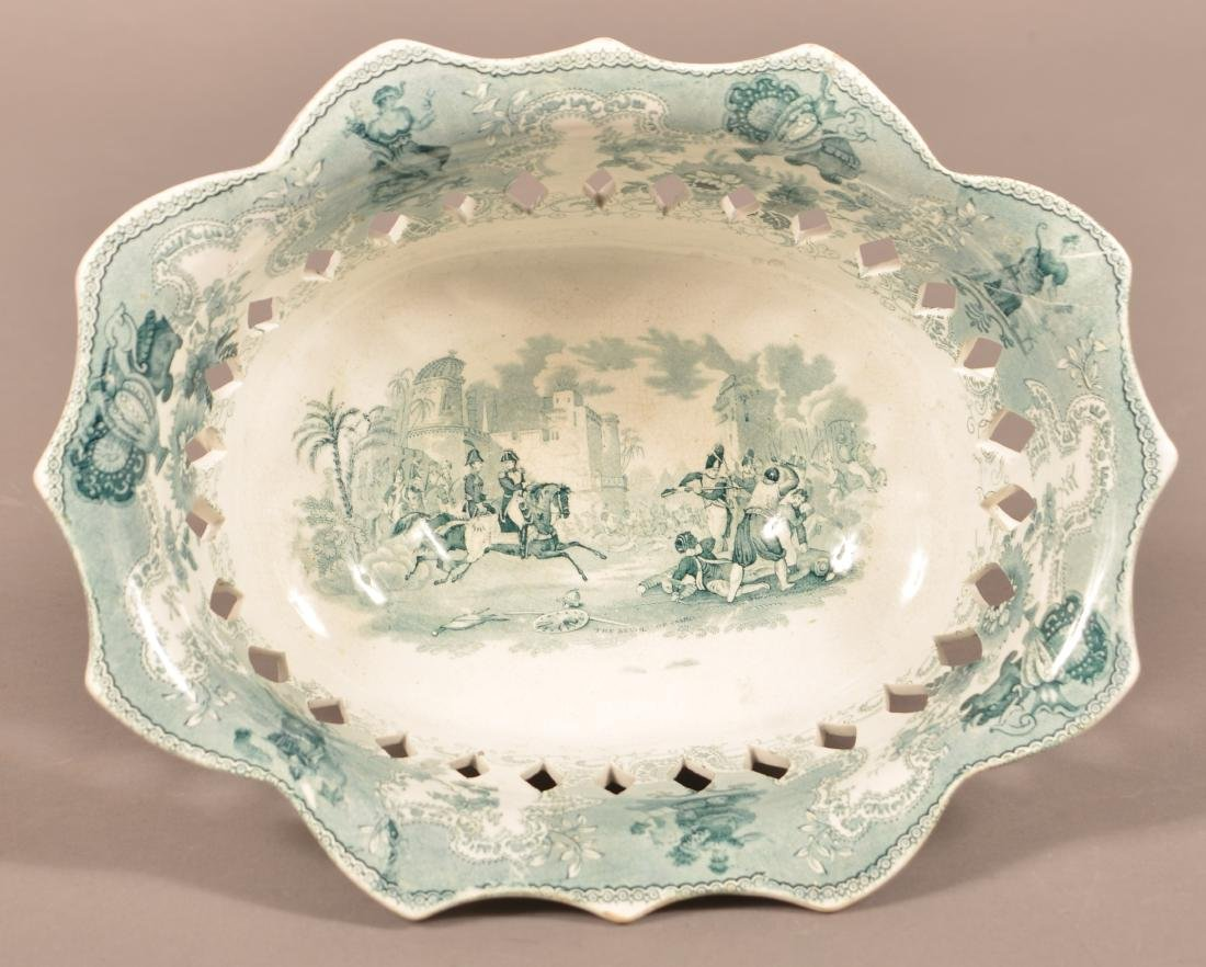 Staffordshire China Reticulated Compote. - 2