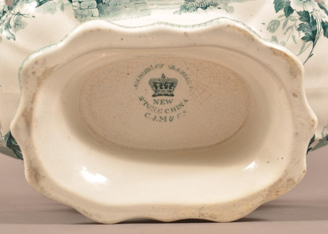 Staffordshire China Reticulated Compote. - 5