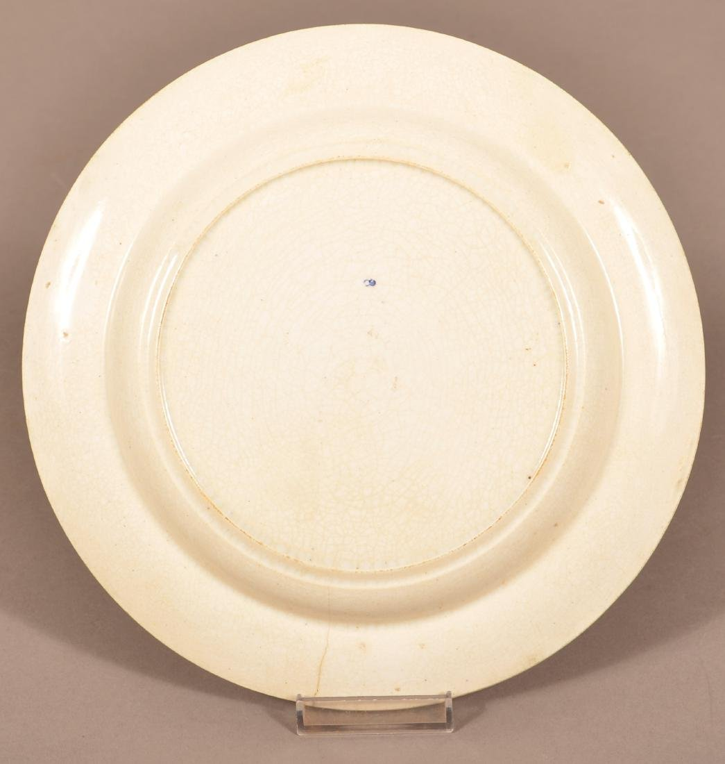 Ship Transfer Pearlware Plate Impressed Dillwyn. - 2