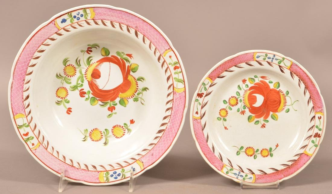 Two Kings Rose Soft Paste China Plates.
